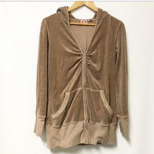 Juicy Couture Velour tunic Jacket LARGE